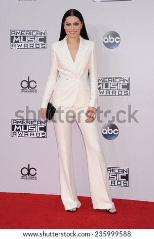 LOS ANGELES - NOV 23:  Jessie J arrives to the 2014 American Music Awards on November 23, 2014 in Los Angeles, CA                 - stock photo