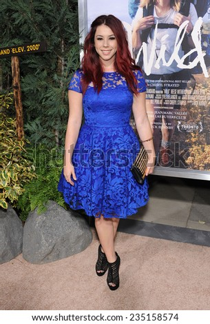 """LOS ANGELES - NOV 19:  Jillian Rose Reed arrives to the """"Wild"""" Los Angeles Premiere on November 19, 2014 in Beverly Hills, CA                 - stock photo"""