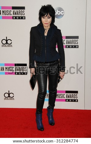 LOS ANGELES - NOV 24:  Joan Jett arrives at the 2013 American Music Awards Arrivals  on November 24, 2013 in Los Angeles, CA