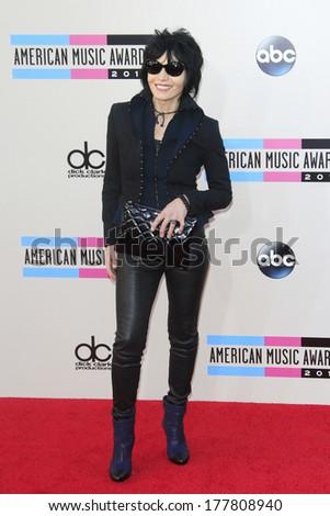 LOS ANGELES - NOV 24: Joan Jett at the 2013 American Music Awards at Nokia Theater L.A. Live on November 24, 2013 in Los Angeles, California