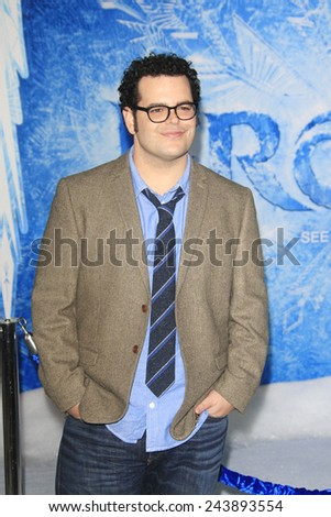 LOS ANGELES - NOV 19: Josh Gad at the premiere of Walt Disney Animation Studios' 'Frozen' at the El Capitan Theater on November 19, 2013 in Los Angeles, CA - stock photo