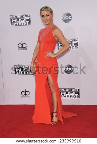 LOS ANGELES - NOV 23:  Julianne Hough arrives to the 2014 American Music Awards on November 23, 2014 in Los Angeles, CA                 - stock photo