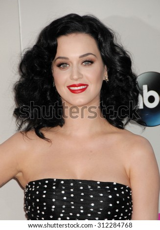 LOS ANGELES - NOV 24:  Katy Perry arrives at the 2013 American Music Awards Arrivals  on November 24, 2013 in Los Angeles, CA                 - stock photo