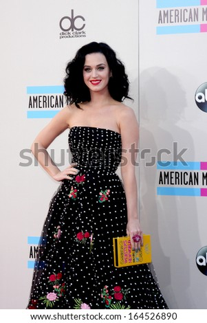 LOS ANGELES - NOV 24:  Katy Perry at the 2013 American Music Awards Arrivals at Nokia Theater on November 24, 2013 in Los Angeles, CA - stock photo