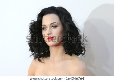 LOS ANGELES - NOV 24: Katy Perry at the 2013 American Music Awards at Nokia Theater L.A. Live on November 24, 2013 in Los Angeles, California - stock photo