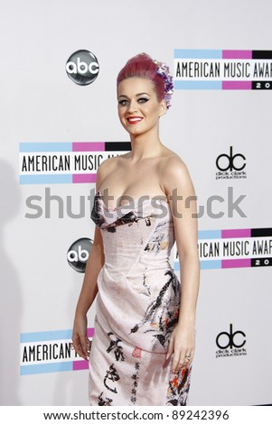 LOS ANGELES - NOV 20: Katy Perry at the 2011 American Music Awards held at Nokia Theatre L.A. Live on November 20, 2011 in Los Angeles, California
