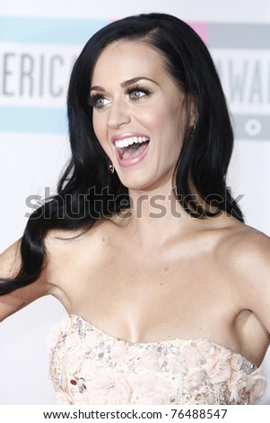 LOS ANGELES - NOV 21: Katy Perry at the 2010 American Music Awards held at the Nokia Theater in Los Angeles, California on November 21, 2010 - stock photo