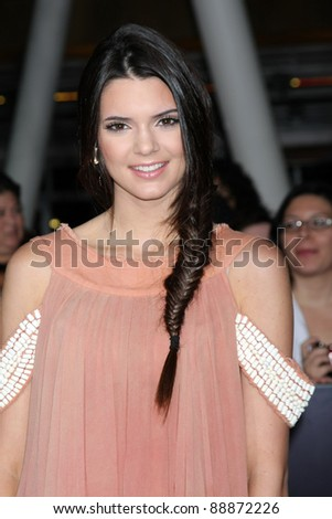 "LOS ANGELES - NOV 14:  Kendall Jenner arrives at the ""Twilight: Breaking Dawn Part 1"" World Premiere at Nokia Theater at LA LIve on November 14, 2011 in Los Angeles, CA - stock photo"