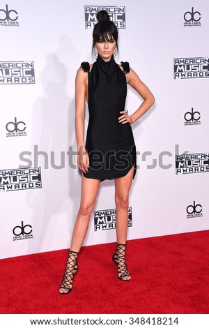 LOS ANGELES - NOV 22:  Kendall Jenner arrives to the American Music Awards 2015  on November 22, 2015 in Los Angeles, CA.                 - stock photo
