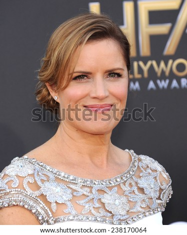LOS ANGELES - NOV 14:  Kim Dickens arrives to the The Hollywood Film Awards 2014 on November 14, 2014 in Hollywood, CA                 - stock photo