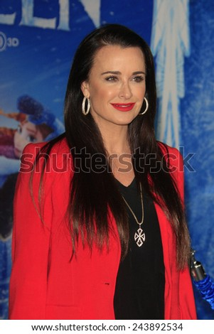 LOS ANGELES - NOV 19: Kyle Richards at the premiere of Walt Disney Animation Studios' 'Frozen' at the El Capitan Theater on November 19, 2013 in Los Angeles, CA - stock photo
