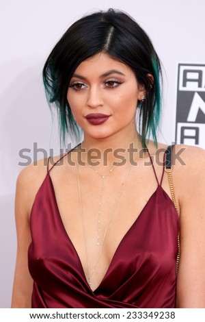 LOS ANGELES - NOV 23:  Kylie Jenner at the 2014 American Music Awards - Arrivals at the Nokia Theater on November 23, 2014 in Los Angeles, CA - stock photo