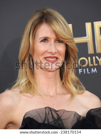LOS ANGELES - NOV 14:  Laura Dern arrives to the The Hollywood Film Awards 2014 on November 14, 2014 in Hollywood, CA                 - stock photo