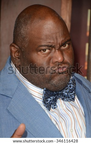 "LOS ANGELES - NOV 30:  Lavell Crawford at the ""The Ridiculous 6"" Los Angeles Premiere at the AMC Universal City Walk on November 30, 2015 in Los Angeles, CA"