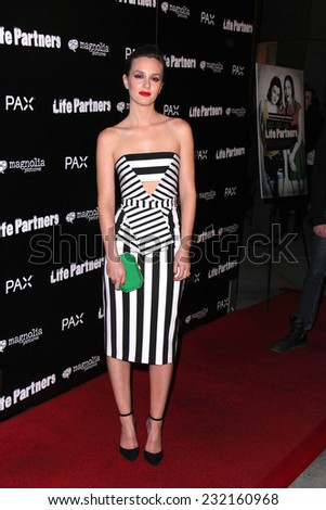 "LOS ANGELES - NOV 18:  Leighton Meester at the ""Life Partners"" Los Angeles Special Screening at the ArcLight Hollywood Theaters on November 18, 2014 in Los Angeles, CA - stock photo"