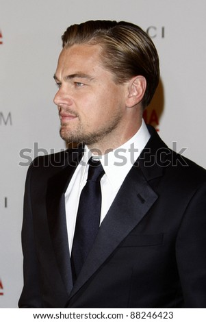 LOS ANGELES - NOV 5:  Leonardo DiCaprio arrives at the LACMA Art + Film Gala at LA County Museum of Art on November 5, 2011 in Los Angeles, CA