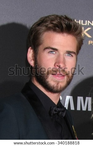 "LOS ANGELES - NOV 16:  Liam Hemsworth at the ""The Hunger Games -Mockingjay Part 2"" LA Premiere at the Microsoft Theater on November 16, 2015 in Los Angeles, CA - stock photo"