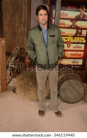 """LOS ANGELES - NOV 30:  Luke Wilson at the """"The Ridiculous 6"""" Los Angeles Premiere at the AMC Universal City Walk on November 30, 2015 in Los Angeles, CA - stock photo"""