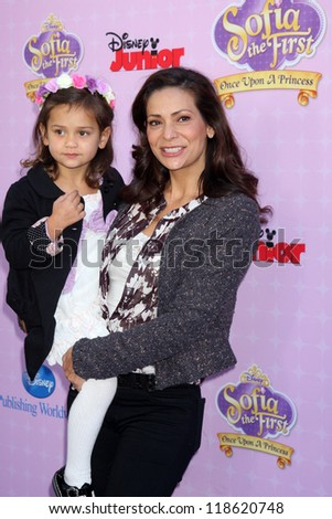 "LOS ANGELES - NOV 10:  Luna Marie Katich, Constance Marie arrive at the ""Sofia The First: Once Upon a Princess"" Premiere at Walt Disney Studios on November 10, 2012 in Burbank, CA"