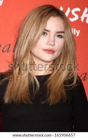 LOS ANGELES - NOV 6:  Maddie Hasson at the CRUSH by ABC Family Clothing Line Launch at London Hotel on November 6, 2013 in West Hollywood, CA