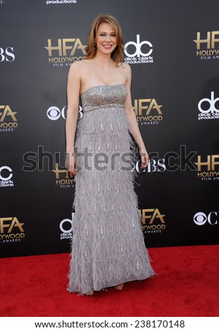 LOS ANGELES - NOV 14:  Maitland Ward arrives to the The Hollywood Film Awards 2014 on November 14, 2014 in Hollywood, CA                 - stock photo
