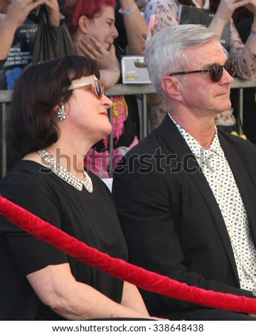 LOS ANGELES - NOV 12:  Marcia Gresham, Alan Radcliffe - Daniel's parents at the Daniel Radcliffe Hollywood Walk of Fame Ceremony at the Hollywood Walk of Fame on November 12, 2015 in Los Angeles, CA - stock photo