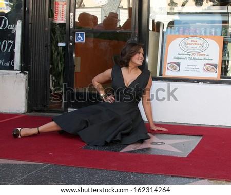 LOS ANGELES - NOV 8:  Mariska Hargitay at the Mariska Hargitay Hollywood Walk of Fame Star Ceremony at Hollywood Blvd on November 8, 2013 in Los Angeles, CA\ - stock photo