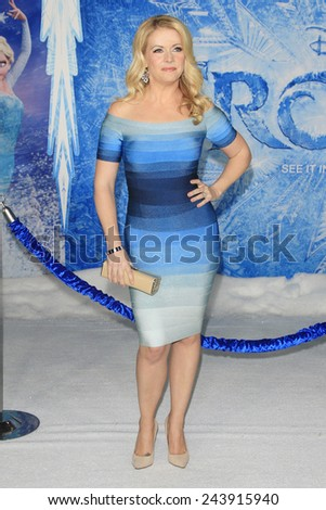 LOS ANGELES - NOV 19: Melissa Joan Hart at the premiere of Walt Disney Animation Studios' 'Frozen' at the El Capitan Theater on November 19, 2013 in Los Angeles, CA - stock photo