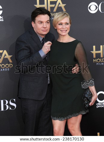 LOS ANGELES - NOV 14:  Mike Myers arrives to the The Hollywood Film Awards 2014 on November 14, 2014 in Hollywood, CA                 - stock photo