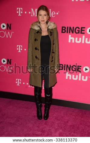 LOS ANGELES - NOV 10:  Nathalia Ramos at the T-Mobile Un-carrier X Launch Celebration at the Shrine Auditorium on November 10, 2015 in Los Angeles, CA - stock photo