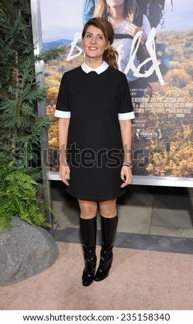 "LOS ANGELES - NOV 19:  Nia Vardalos arrives to the ""Wild"" Los Angeles Premiere on November 19, 2014 in Beverly Hills, CA                 - stock photo"