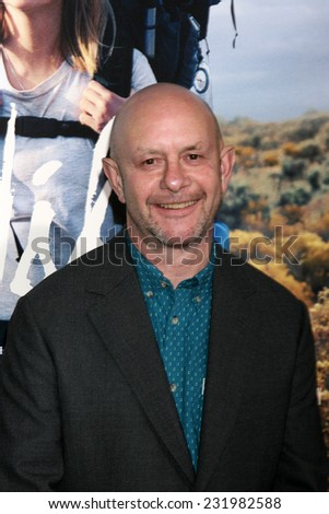 """LOS ANGELES - NOV 19:  Nick Hornby at the """"Wild"""" Premiere at the The Academy of Motion Pictures Arts and Sciences on November 19, 2014 in Beverly Hills, CA - stock photo"""