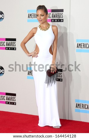LOS ANGELES - NOV 24:  Nicole Richie at the 2013 American Music Awards Arrivals at Nokia Theater on November 24, 2013 in Los Angeles, CA - stock photo
