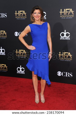 LOS ANGELES - NOV 14:  Norah O'Donnell arrives to the The Hollywood Film Awards 2014 on November 14, 2014 in Hollywood, CA                 - stock photo
