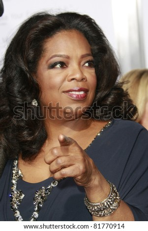 LOS ANGELES - NOV 1: Oprah Winfrey at the screening of 'Precious: Based On The Novel 'PUSH' By Sapphire' during AFI FEST 2009 in Los Angeles, California on November 1, 2009 - stock photo