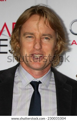 "LOS ANGELES - NOV 11:  Owen Wilson at the ""THe Homesman"" Screening at AFI Film Festival at the Dolby Theater on November 11, 2014 in Los Angeles, CA"