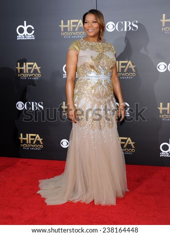 LOS ANGELES - NOV 14:  Queen Latifah arrives to the The Hollywood Film Awards 2014 on November 14, 2014 in Hollywood, CA                 - stock photo