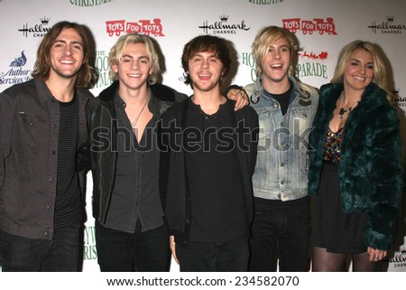 LOS ANGELES - NOV 30:  R5, Ross Lynch at the 2014 Hollywood Christmas Parade at the Hollywood Boulevard on November 30, 2014 in Los Angeles, CA - stock photo