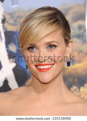 "LOS ANGELES - NOV 19:  Reese Witherspoon arrives to the ""Wild"" Los Angeles Premiere on November 19, 2014 in Beverly Hills, CA                 - stock photo"