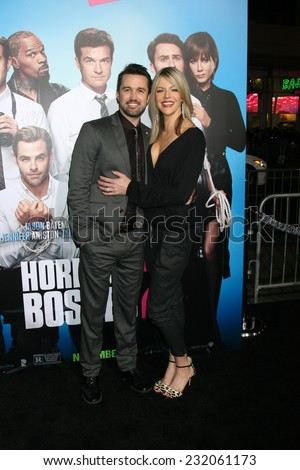 "LOS ANGELES - NOV 20:  Rob McElhenney, Kaitlin Olson at the ""Horrible Bosses 2"" Premiere at the TCL Chinese Theater on November 20, 2014 in Los Angeles, CA"
