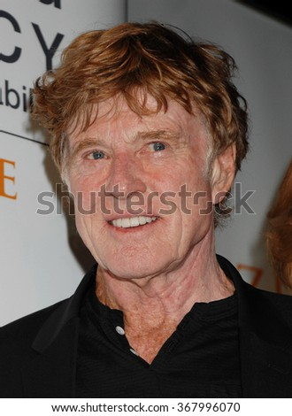 LOS ANGELES - NOV 19 - Robert Redford arrives at the Robert Redford Conservancy at Pitzer College on November 19, 2012 in Los Angeles, CA              - stock photo