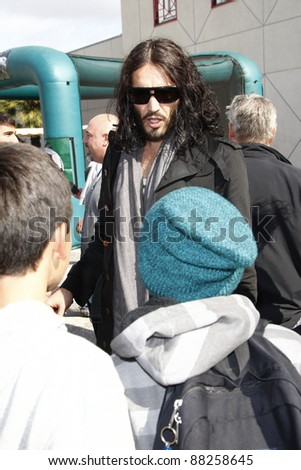 LOS ANGELES - NOV 6: Russell Brand at A Day Of Champions Benefiting The Bogart Pediatric Cancer Research Program at Sports Museum on November 6, 2011 in Los Angeles, CA - stock photo