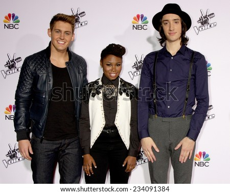"LOS ANGELES - NOV 24:  Ryan Sill, Anita Antoinette, Taylor John Williams at the ""The Voice"" Season 7 Red Carpet at the Universal City Walk on November 24, 2014 in Los Angeles, CA"