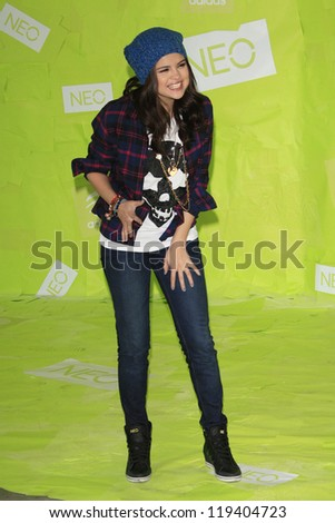 LOS ANGELES - NOV 20: Selena Gomez at the Adidas NEO news conference where Selena Gomez is signed on as the new style icon and designer on November 20, 2012 in Los Angeles, California