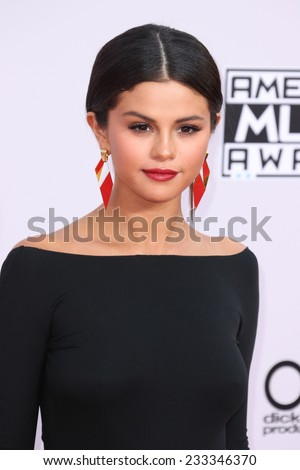 LOS ANGELES - NOV 23:  Selena Gomez at the 2014 American Music Awards - Arrivals at the Nokia Theater on November 23, 2014 in Los Angeles, CA - stock photo