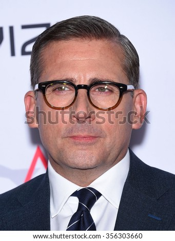 LOS ANGELES - NOV 12:  Steve Carell arrives to the AFI Fest 2015 Closing Gala 'The Big Short' World Premiere  on November 12, 2015 in Hollywood, CA.                 - stock photo