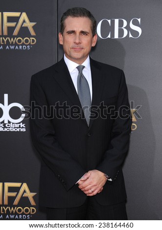 LOS ANGELES - NOV 14:  Steve Carell arrives to the The Hollywood Film Awards 2014 on November 14, 2014 in Hollywood, CA                 - stock photo