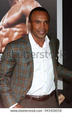 "LOS ANGELES - NOV 19:  Sugar Ray Leonard at the ""Creed"" Los Angeles Premiere at the Village Theater on November 19, 2015 in Westwood, CA - stock photo"