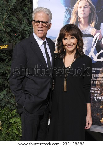 """LOS ANGELES - NOV 19:  Ted Danson & Mary Steenburgen arrives to the """"Wild"""" Los Angeles Premiere on November 19, 2014 in Beverly Hills, CA                 - stock photo"""