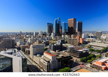 Los Angeles, NOV 8: The famous Los Angeles city view on NOV 8, 2014 at Los Angeles